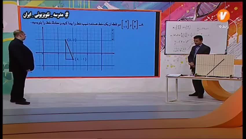 ادامه ویدیو حل تمرین معادله خط ریاضی نهم