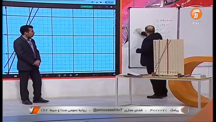 ویدیو آموزش دستگاه معادله خطی ریاض نهم