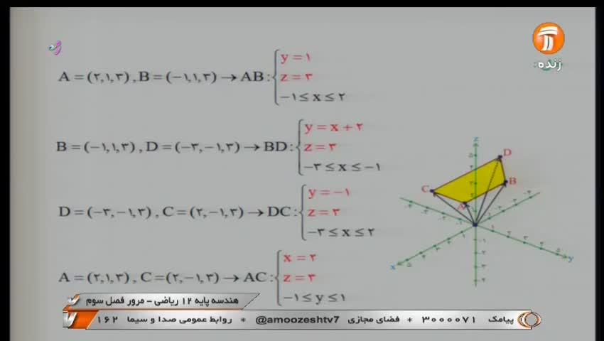 ویدیو مرور فصل 3 هندسه دوازدهم